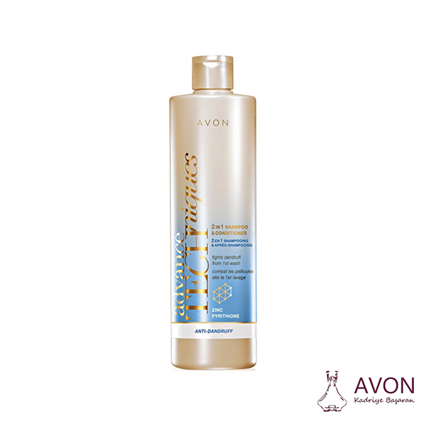 Avon Advance Techniques Kepeklenmeye Karşı 2 si 1 arada Şampuan ve Saç Kremi